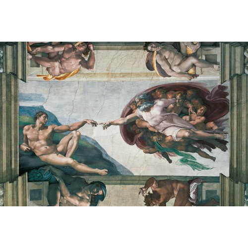 Puzzle Michelangelo - Crearea Lui Adam, 5000 Piese