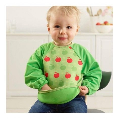 Imagine 2Baveta Cu Maneci Ultrabib Green Apples