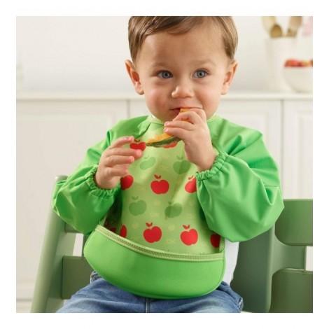 Imagine 4Baveta Cu Maneci Ultrabib Green Apples