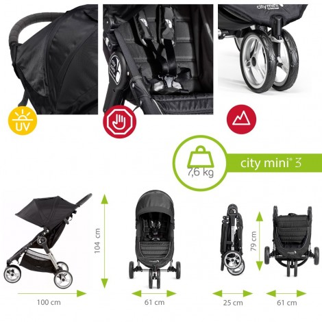 Imagine 8Carucior City Mini 3 Black Grey