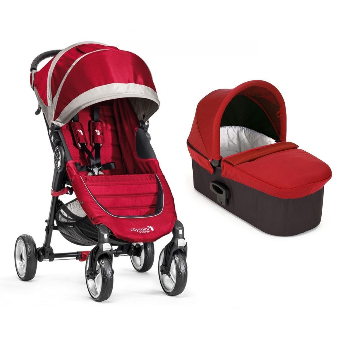 Carucior City Mini 4 Crimson Grey sistem 2 in 1