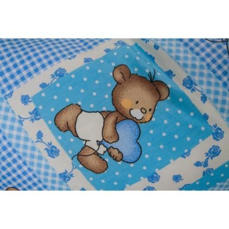 Imagine 2Perna 3 in 1 pentru gravide si bebelusi Ursuleti Albastri