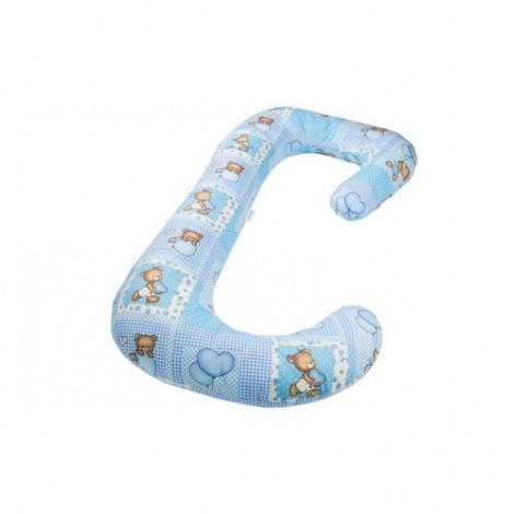 Imagine 1Perna 3 in 1 pentru gravide si bebelusi Ursuleti Albastri