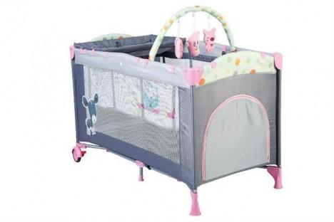 Imagine 3Patut Pliant Cu 2 Nivele Sleepwell Pink