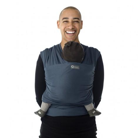 Imagine 4Sistem de purtare wrap elastic Tricot Slen Organic Blue Jeans