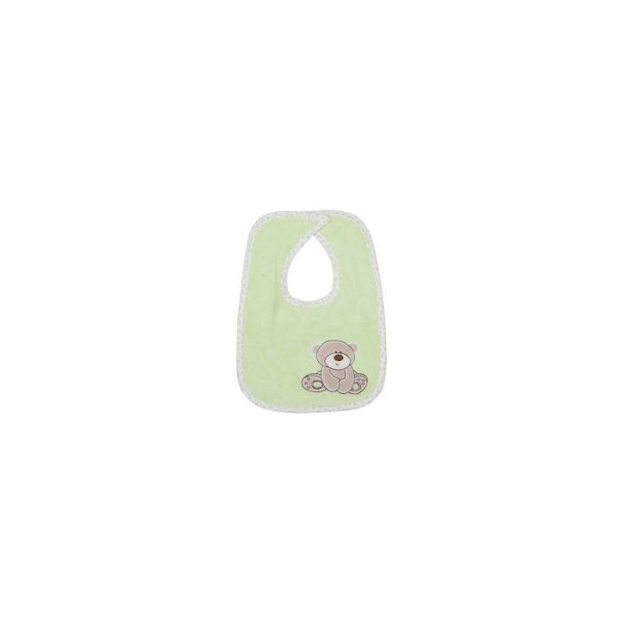 Baveta bumbac Green Lilly bear 2 buc/set