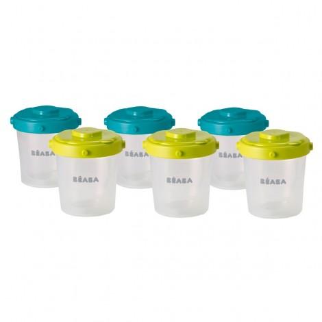 Imagine 1Set 6 recipiente 200 ml - culori asortate