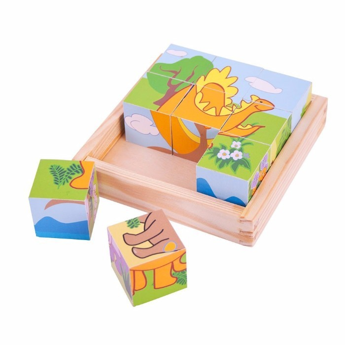 Imagine indisponibila pentru Puzzle cubic - dinozauri