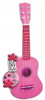 Imagine 1Chitara roz din lemn cu stickere