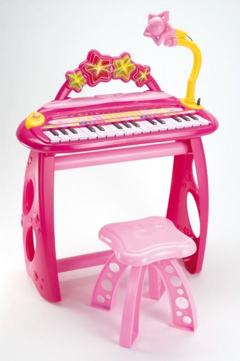 Imagine 1Orga electronica cu 31 clape, scaun si microfon iGirl