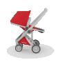 Imagine 2Carucior Greentom Reversible 100% Ecologic - Grey Red
