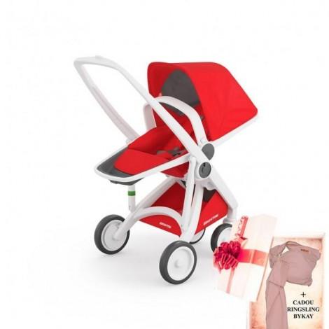 Imagine 1Carucior Greentom Reversible 100% Ecologic - White Red