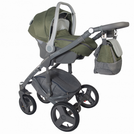 Imagine 12Carucior modular 3 in 1 Cassia Khaki