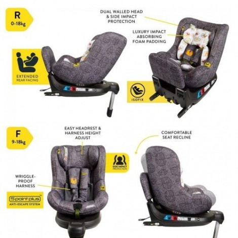 Imagine 9Scaun Auto Cu Isofix 0-18 Kg Come And Go, Dawn Chorus