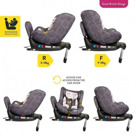 Imagine 7Scaun Auto Cu Isofix 0-18 Kg Come And Go, Dawn Chorus