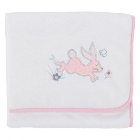 Imagine 2Paturica pufoasa din fleece 90x70 cm Comfi Love Rabbit