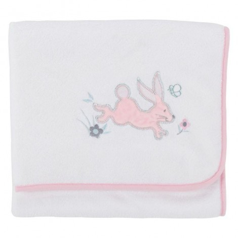 Imagine 2Paturica pufoasa din fleece 90x70 cm Comfi Love Rabbit