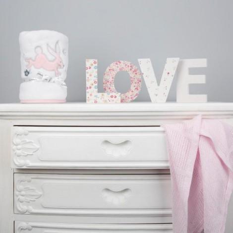 Imagine 7Paturica pufoasa din fleece 90x70 cm Comfi Love Rabbit