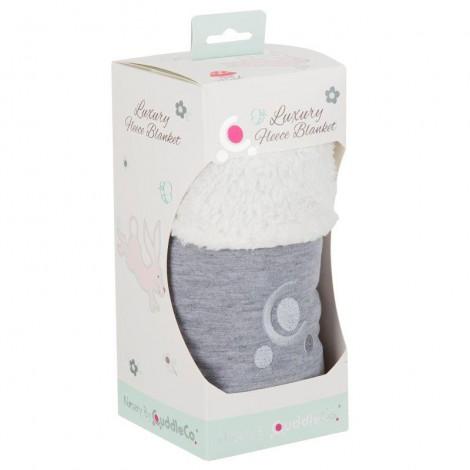 Imagine 2Paturica reversibila din tricot/fleece 90x70 cm Comfi Love Grey