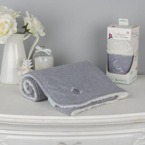 Imagine 4Paturica reversibila din tricot/fleece 90x70 cm Comfi Love Grey