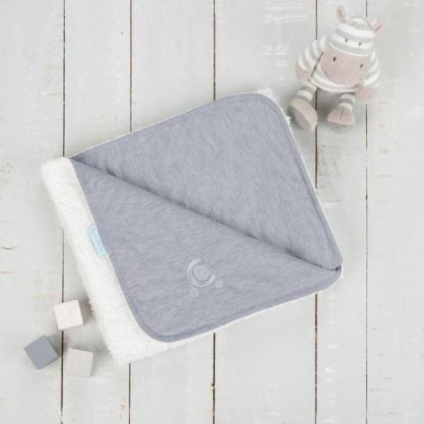 Imagine 5Paturica reversibila din tricot/fleece 90x70 cm Comfi Love Grey