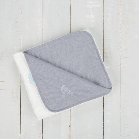 Imagine 6Paturica reversibila din tricot/fleece 90x70 cm Comfi Love Grey