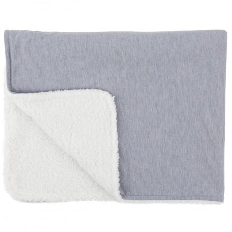 Imagine 1Paturica reversibila din tricot/fleece 90x70 cm Comfi Love Grey