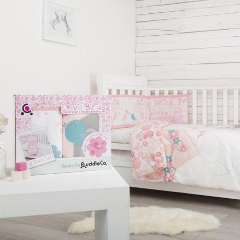 Imagine 3Set de pat 2 piese pentru bebelusi Comfi-Dreams Lovebirds