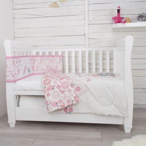 Imagine 4Set de pat 2 piese pentru bebelusi Comfi-Dreams Lovebirds