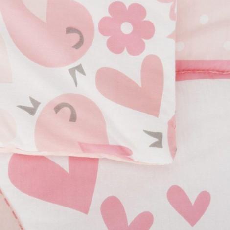Imagine 5Set de pat 2 piese pentru bebelusi Comfi-Dreams Lovebirds