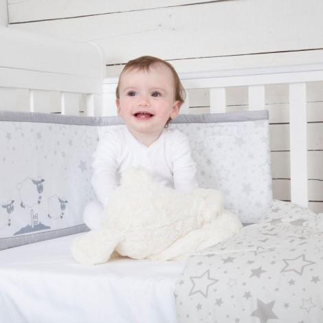 Imagine 10Set de pat 4 piese pentru bebelusi Comfi-Dreams Sleepy Sheep