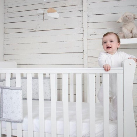 Imagine 11Set de pat 4 piese pentru bebelusi Comfi-Dreams Sleepy Sheep