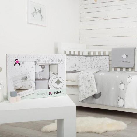 Imagine 8Set de pat 4 piese pentru bebelusi Comfi-Dreams Sleepy Sheep