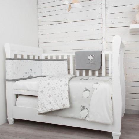 Imagine 9Set de pat 4 piese pentru bebelusi Comfi-Dreams Sleepy Sheep