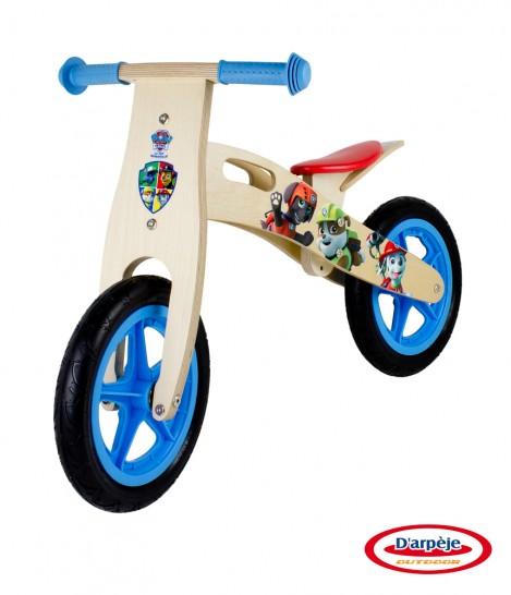 Imagine 2Bicicleta din lemn fara pedale Paw Patrol