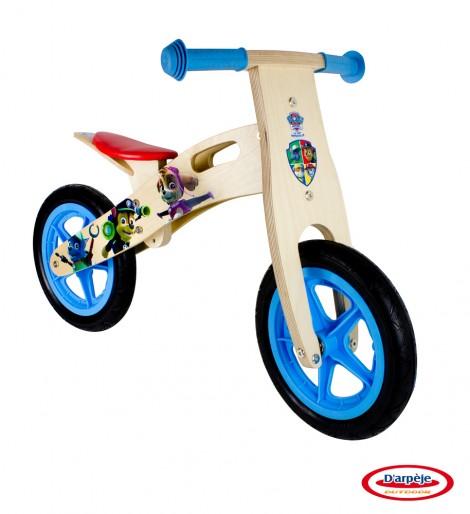 Imagine 1Bicicleta din lemn fara pedale Paw Patrol