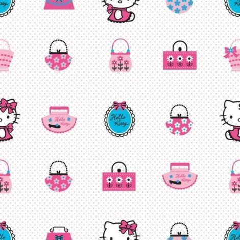 Imagine 3Rola tapet 10 X 0,52m Hello Kitty Fashion