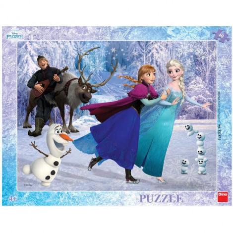 Imagine 1Puzzle cu rama - Anna si Elsa la patinoar (40 piese)