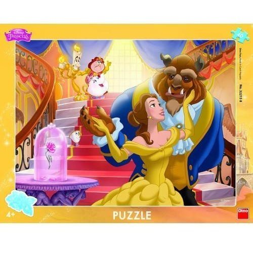 Puzzle cu rama - Frumoasa si Bestia (40 piese)