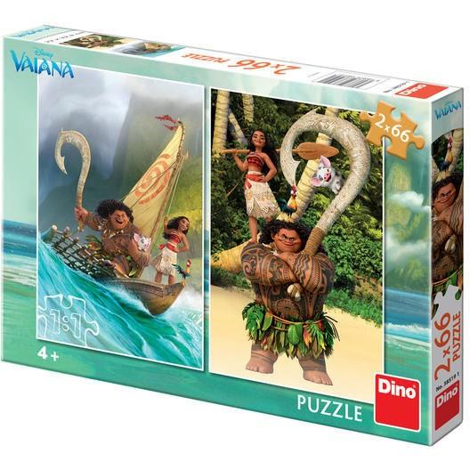 Puzzle 2 in 1 - Aventurile Vaianei (66 piese)