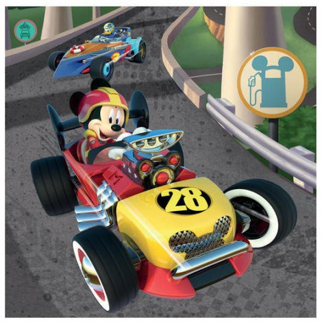 Imagine 2Puzzle 3 in 1 - Cursa lui Mickey Mouse (3 x 55 piese)