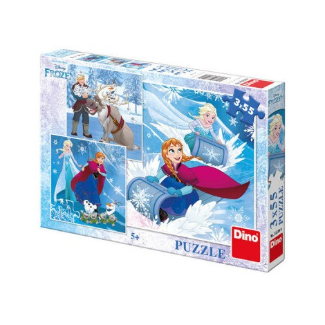 Imagine 1Puzzle 3 in 1 - Frozen (3 x 55 piese)
