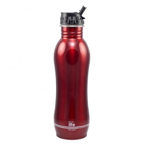 Imagine 1Sticla inox cu filtru de apa 750 ml Red