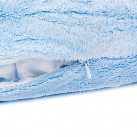 Imagine 3Perna de alaptare fiziologica husa blanita bleu colectia Mis Mat 72 cm