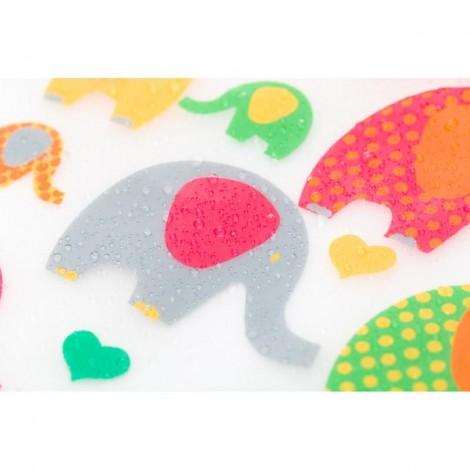 Imagine 4Baveta cu maneca frotir/pvc ,2/set, 25x32 cm Elephant