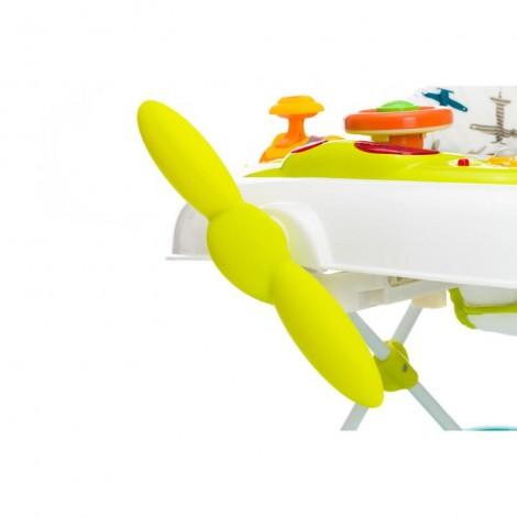Imagine 5Premergator cu jucarie White Green Plane
