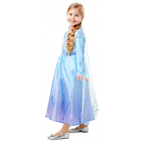 Imagine 2FROZEN 2 COSTUM ELSA DE CALATORIE DELUXE