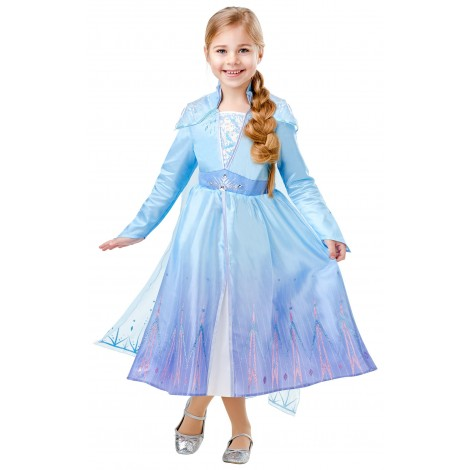 Imagine 1FROZEN 2 COSTUM ELSA DE CALATORIE DELUXE