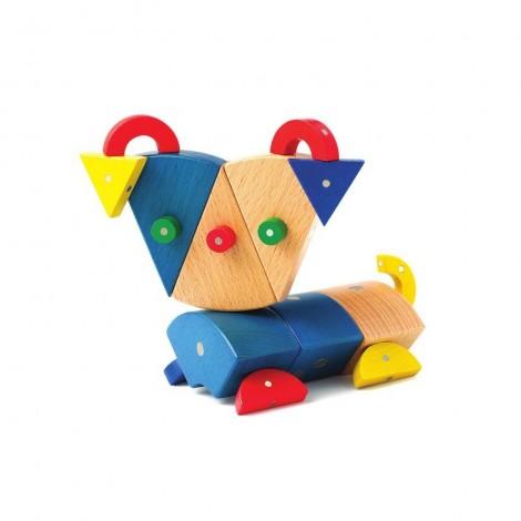 Imagine 9Joc magnetic din lemn Animale 39 piese