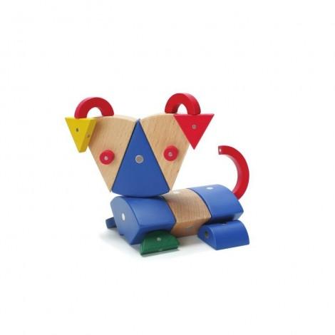 Imagine 1Joc magnetic din lemn Animale 39 piese